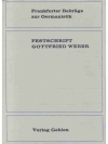 Festschrift Gottfried Weber