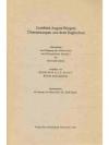 Gottfried August Bürgers Übersetzungen aus dem E..