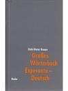 Grosses Wörterbuch Esperanto-Deutsch