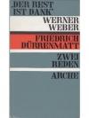 Dank - Weber/Dürenmatt - Reden