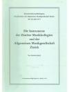 Die Instrumente der Zürcher Musikkollegien und d..