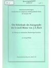 Die Schicksale des Autographs der h-moll-Messe v..