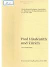Paul Hindemith und Zürich
