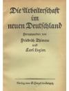 Die Arbeiterschaft im neuen Deutschland