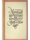 Almanach des Verlages Grethlein 1899 - 1924