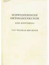 Schweizerische Ortsnamenkunde