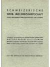Schweizerische Wehr- und Kriegswirtschaft