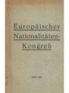 Europäischer Nationalitäten-Kongress Genf 1926
