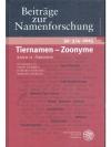 Tiernamen - Zoonyme, Band II