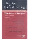 Tiernamen - Zoonyme, Band I