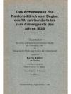 Das Armenwesen des Kantons Zürich vom Beginn des..