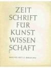Zeitschrift für Kunstwissenschaft 1954