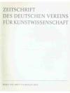 Zeitschrift des Deutschen Vereins für Kunstwisse..