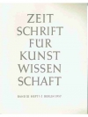 Zeitschrift für Kunstwissenschaft Band XI