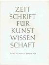 Zeitschrift für Kunstwissenschaft Band XII