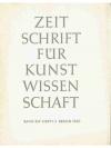 Zeitschrift für Kunstwissenschaft 1960
