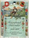 Feierabend Kalender f�r das Jahr 1922